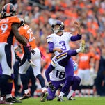 Vikings kicker Blair Walsh's struggles are one area of concern as Minnesota vies to become a playoff contender.