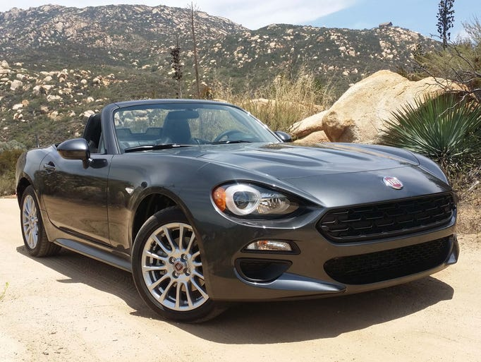 The 2017 Fiat 124 Spider is a sensuous, topless, affordable