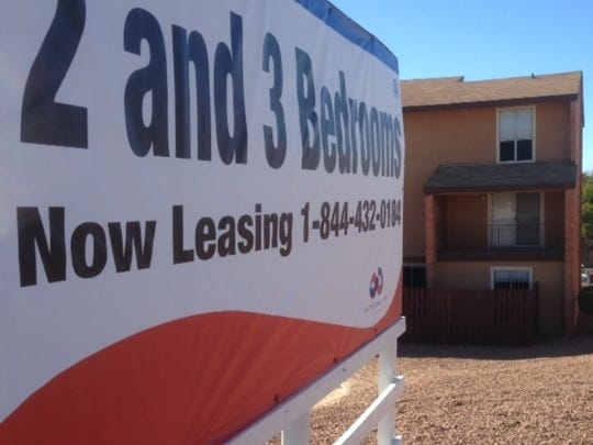 A leasing sign stands outside a huge apartment complex on Resler Road in West El Paso. An 8.7 percent vacancy rate in the second quarter is one of the reasons a new report ranks El Paso as the nation's worst rental market for investors and property owners.