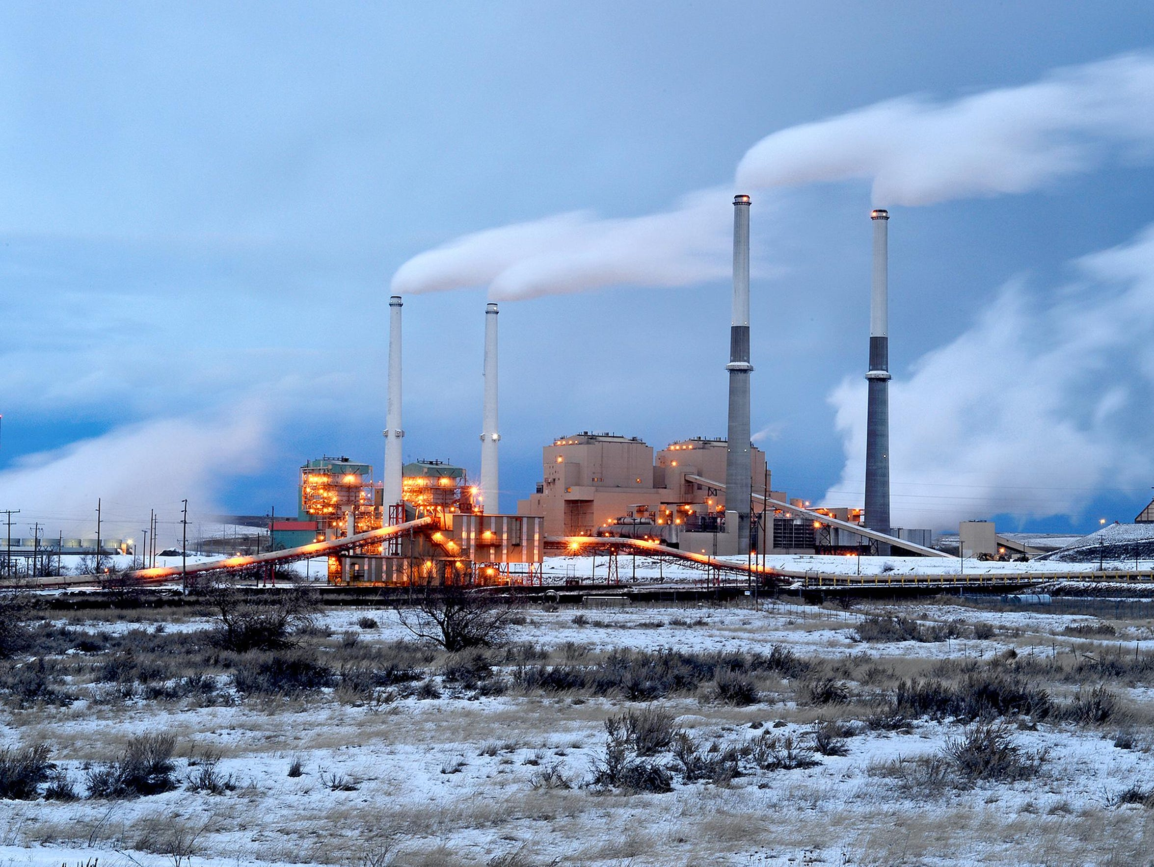 The coal-fired power plant in Colstrip on Feb. 4