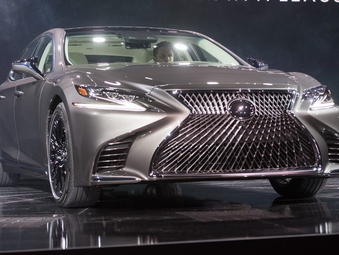 Lexus shows off the 2018 LS 500 during a media preview