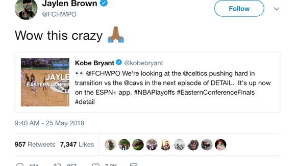 Kobe Bryant explains how Celtics' Jaylen Brown can put pressure on Cavs' defense