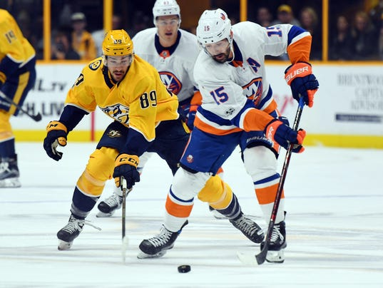 NHL: New York Islanders at Nashville Predators