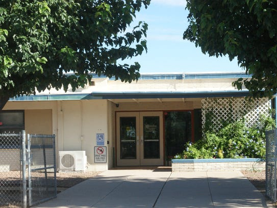 Entrance to the Deming Cesar Chavez Charter High School