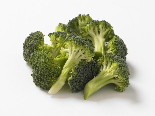 Broccoli florets, studio shot