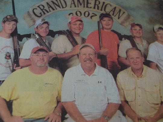 The Union County Shooting Team finished 9th in the nation in a competition that drew more than 1,600 youths from 29 states in August 2007. Pictured front row left to right are, Paul Duncan, David Walker, Rick Jackson, (back) Matt Thomas, Zach Crisp, Kirk French, Chris Duncan, Davis Jackson, and Will Jackson.