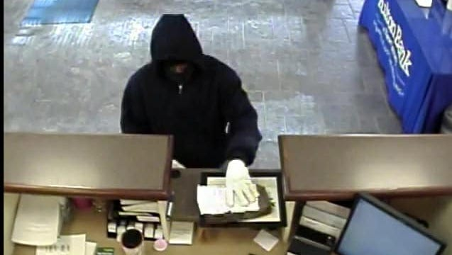 Police say this suspect robbed a Fulton Bank branch on Jan. 8 in Deerfield.