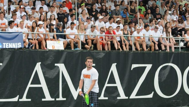 Branden Metzler and the Kalamazoo College men's tennis team are closing in on an outright Michigan Intercollegiate Athletic Association title.