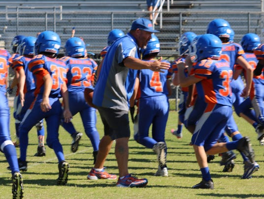 Cape Coral's Pee Wee Pop Warner football team.