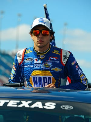 Chase Elliot will enter the VisitMyrtleBeach.com race Saturday with an 18-point series lead over teammate Regan Smith. He's attempting to be the first rookie to win the series.
