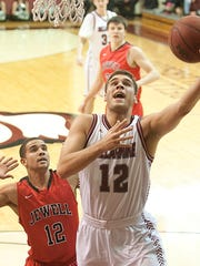 Jake Thelen puts up a shot during his time at Bellarmine.