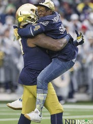 Senior Day at Notre Dame last fall was an emotional