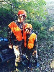 Krystle and Braxton hunting
