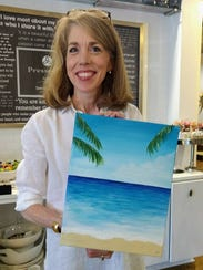 Jane Menton shares her finished painting.