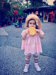 """Lo Lo Phillips, 1, dressed as Eleven from """"Stranger"""