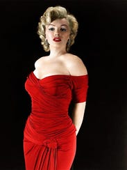 9. This ruby red dress, worn for publicity purposes