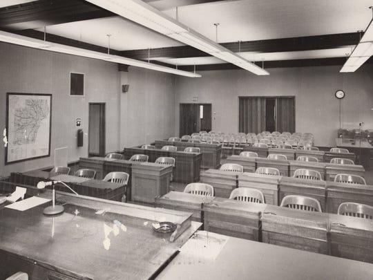 Manitowoc County Board of Supervisors Room, circa 1970.