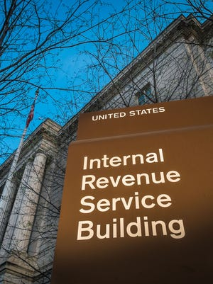 This April 2014 file photo shows the headquarters of the Internal Revenue Service (IRS) in Washington, D.C.