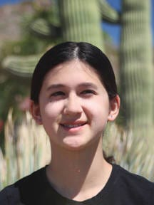 Nicola Ferguson, 13, a 7th grader from Scottsdale, Ariz., is competing in National Harbor, Md
