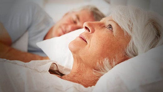 Older adults frequently get less than the recommended seven or eight hours of nighttime sleep.