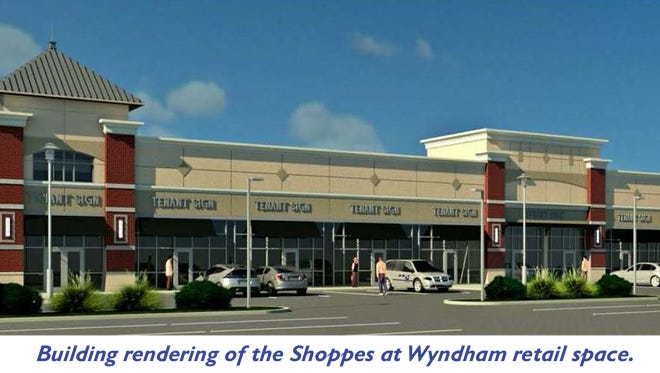 A rendering of a proposed shopping center near York College in Spring Garden Township.