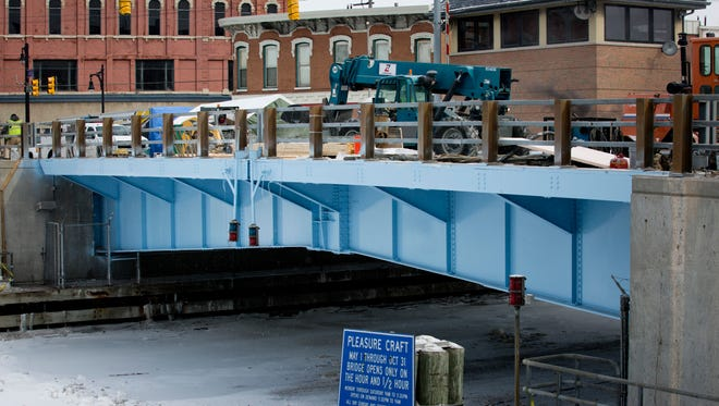 Painting has been completed, and other repair work is underway Thursday in Port Huron.