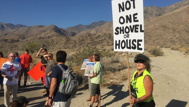 A rally to raise support to protect Os Wit Canyon in