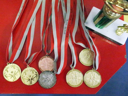 Gymnast Jesse Jimenez has earned several honors at the Special Olympics.