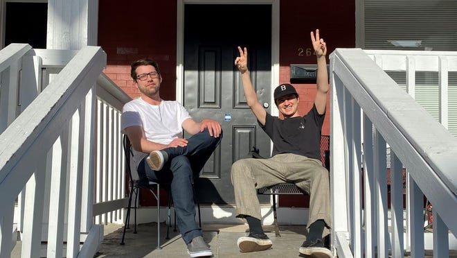 Senseless, left, and producer Christian Melink