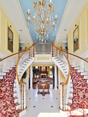 The grand entry to this Rumson mansion.