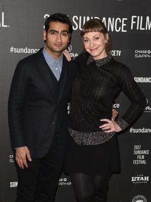 'The Big Sick' co-writers and couple Kumail Nanjiani, left, and Emily Gordon.