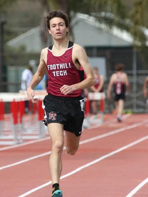 Foothill Tech junior Henry Pick won the 1,600 and 3,200 titles at the Tri-Valley League track and field championships Thursday.