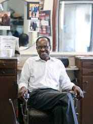Rochester blues icon Joe Beard gets a haircut from