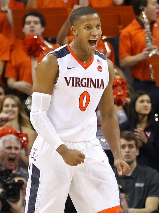 USP NCAA BASKETBALL: NORTH CAROLINA AT VIRGINIA S BKC UVA UNC USA VA