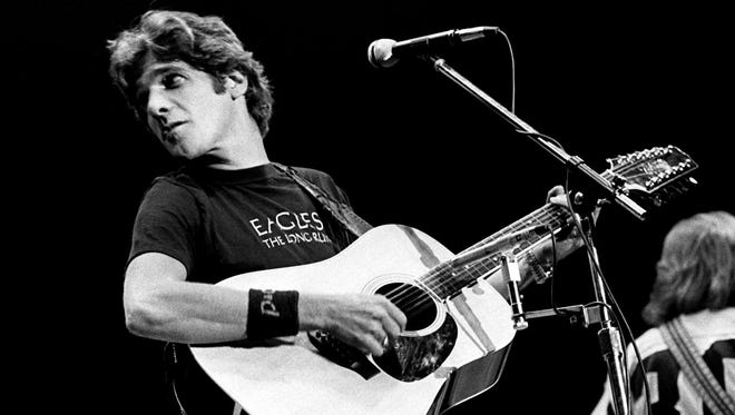 Glenn Frey of the Eagles performing in concert at Middle Tennessee State University in Murfreesboro, Tenn.
