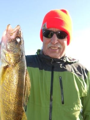 Joe Lynch of Palm Springs, CA caught this walleye with guide Jeff Evans in October 2014.