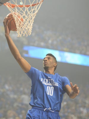 Marcus Lee lays up the ball during the University of Kentucky Big Blue Madness at Rupp Arena in Lexington, Ky., on Friday, October 16, 2015. Photo by Mike Weaver