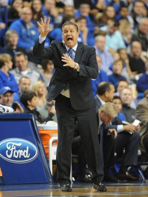 UK head coach John Calipari during the University of Kentucky basketball game against Albany at Rupp Arena in Lexington, Ky., on Friday, November 13, 2015.