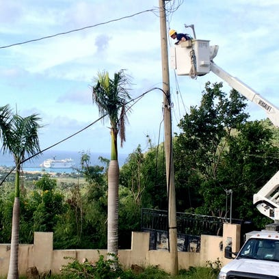 Two Rivers electric workers complete aid mission to Virgin Islands | Greg Buckley