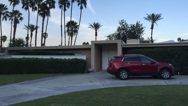 A house in Palm Springs, Calif., where neighbors say a man died after an electric shock in a pool on Sunday, March 27, 2016.