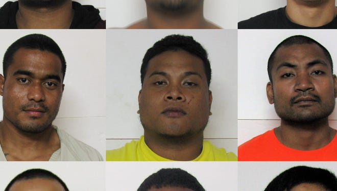Top row L-R: Jimmy Moses Hadley, A-Last Amanto Simiron, Albert Babauta Santos II; Middle row L-R: Vimson Menisio, Marvin Rechim, Benster Benjamin; Bottom row L-R: Jeremiah Isezaki, Isler Phake Miller, Andrew James Rios Jr.