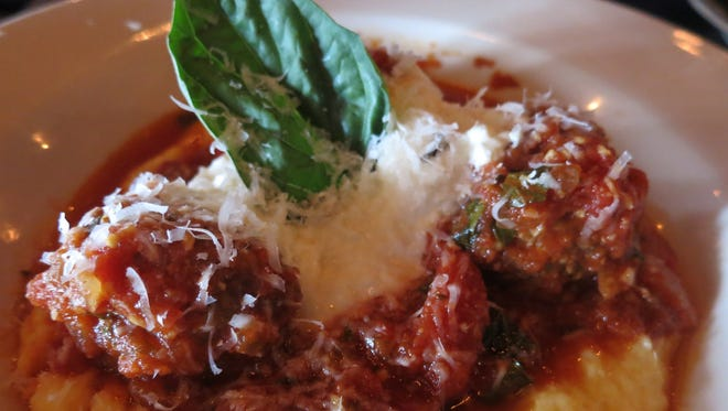 Meatballs with polenta at Bill's in Bloomfield Hills.