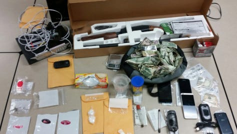 Corpus Christi police found drugs and weapons at a home on Josephine Street early Wednesday.