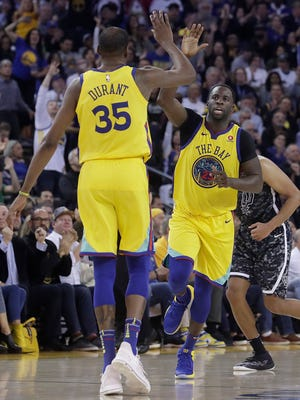 Kevin Durant, who has been out with a rib fracture, and Draymond Green, who suffered flu-like symptoms, both are expected to return to the Golden State lineup Thursday night.