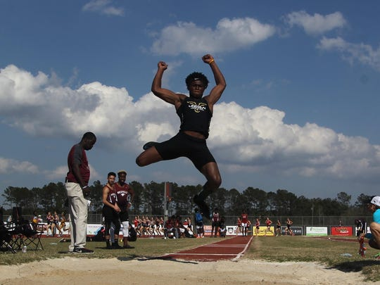 Despite it being his first year of track and field, Lincoln senior Trejan Huggins heads into his first state meet as one of the favorites to win a gold medal in long jump.