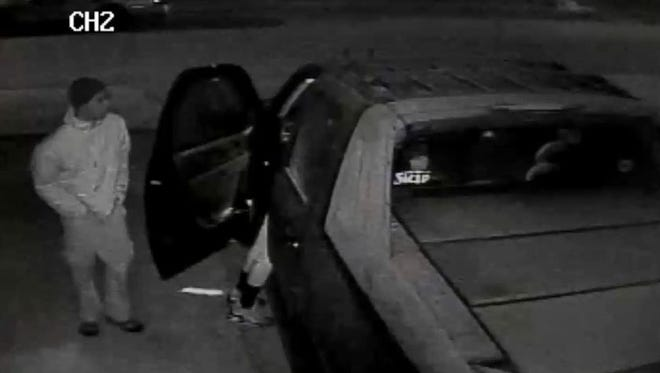 Westland police are looking for help to identify two men accused of stealing items from an unlocked vehicle in the 200 block of Bedford.