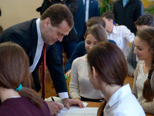 Dmitry Medvedev in Crimea