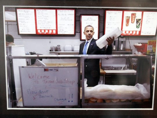President Barack Obama visited Tastee Subs at 267 Plainfield Ave. in Edison in 2010.