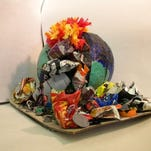 """Vicky Lin from Atherton High School won the environmental protection/sculpture catagory for """"24 Carrot Bunny."""""""