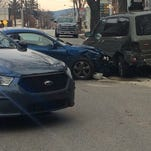 A crash was reported in Hanover Borough Friday morning along Broadway.